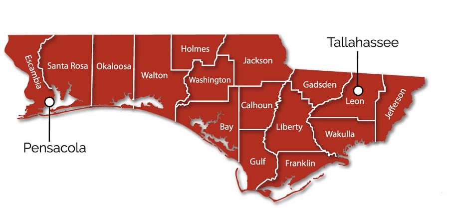 Panhandle Map